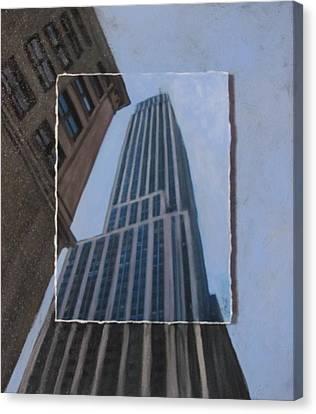 Nyc Severe Empire Layered Canvas Print by Anita Burgermeister