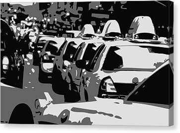 Nyc Traffic Bw3 Canvas Print by Scott Kelley
