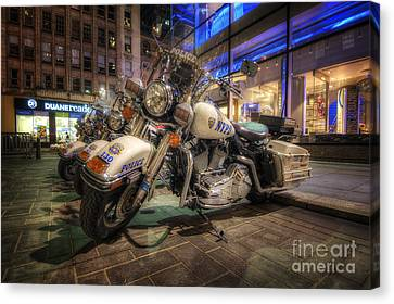 Nypd Bikes Canvas Print by Yhun Suarez