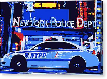 Nypd Color 6 Canvas Print by Scott Kelley