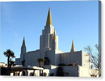 Oakland California Temple . The Church Of Jesus Christ Of Latter-day Saints . 7d11375 Canvas Print by Wingsdomain Art and Photography