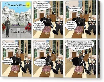 Obama N Freud I Canvas Print by Kevin  Marley