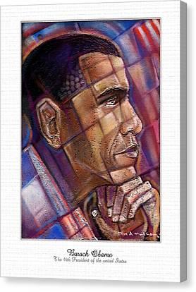 Obama. The Thinker Canvas Print by Fred Makubuya