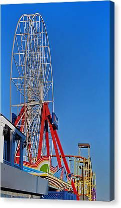 Oc Winter Ferris Wheel Canvas Print by Skip Willits