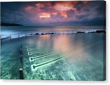 Ocean Baths Canvas Print by Yury Prokopenko