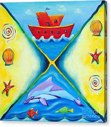 Ocean Daydreaming Canvas Print by Melle Varoy