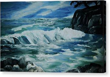 Ocean Waves Canvas Print by Christy Saunders Church