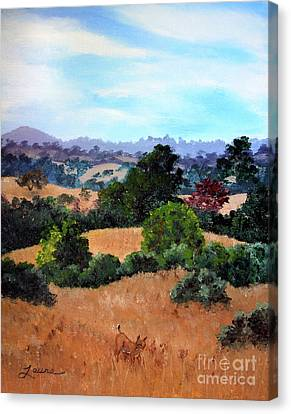 October View Of Arastradero Canvas Print by Laura Iverson