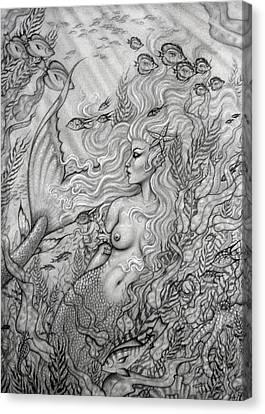 Octopus's Garden Canvas Print by Leon Atkinson
