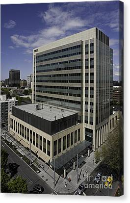 Office Building Canvas Print by Robert Pisano