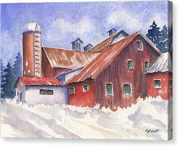 Ohio Barn Canvas Print by Marsha Elliott