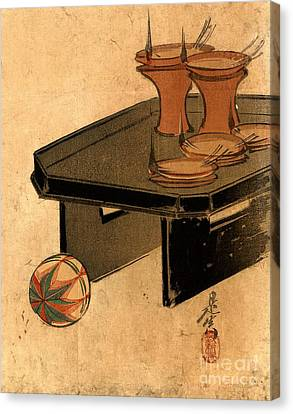 Oil Lamps 1879 Canvas Print by Padre Art