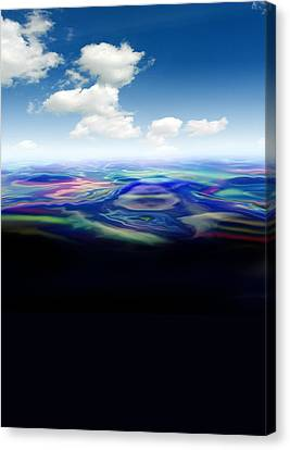 Oil Spill, Artwork Canvas Print by Victor Habbick Visions
