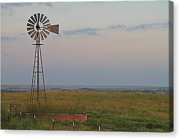 Oklahoma Windmill Canvas Print by Tony Grider