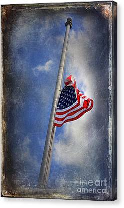 Ol Glory At Half Mast Canvas Print by The Stone Age
