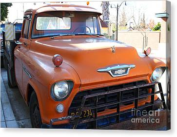Old American Chevy Chevrolet Truck . 7d10669 Canvas Print by Wingsdomain Art and Photography