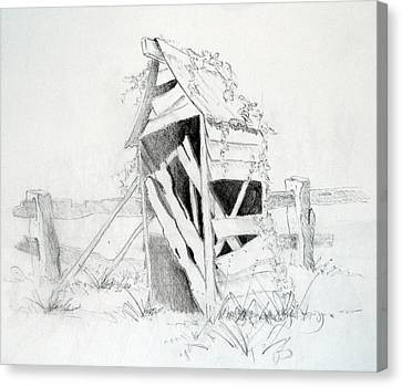 Old Aussie Outhouse Canvas Print by Carol McLagan