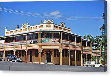 Old Aussie Pub Canvas Print by Kaye Menner