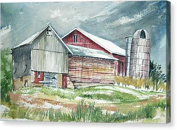 Old Barn Canvas Print by Rose McIlrath