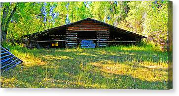 Old Barn With Wings Canvas Print by Lenore Senior and Dawn Senior-Trask