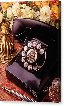 Old Bell Telephone Canvas Print by Garry Gay