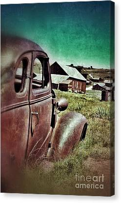 Old Car And Ghost Town Canvas Print by Jill Battaglia