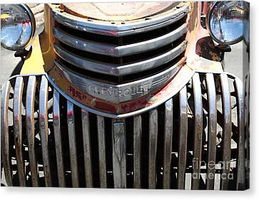 Old Chevrolet - 5d16443 Canvas Print by Wingsdomain Art and Photography
