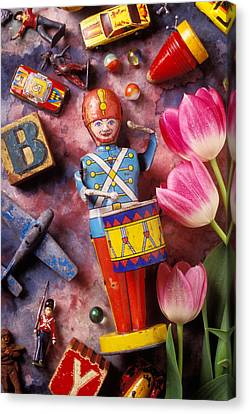 Old Childrens Toys Canvas Print by Garry Gay