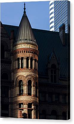 Old City Hall Turret Canvas Print by Matt  Trimble