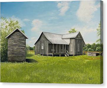 Old Clark Home Canvas Print by Mary Ann King