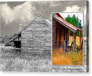 Old Cottage Diptych 2 Canvas Print by Fran Woods