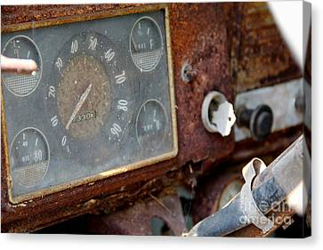 Old Dashboard Canvas Print by Pauline Ross