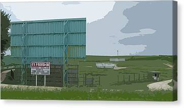 Old Drive In Canvas Print by Craig Carlson