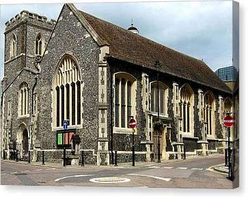Old English Church Uxbridge Uk Canvas Print by Lynne Dymond