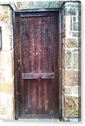 Old English Door Canvas Print by Shawn Hughes