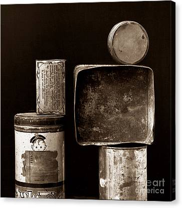 Old Fashioned Iron Boxes. Canvas Print by Bernard Jaubert