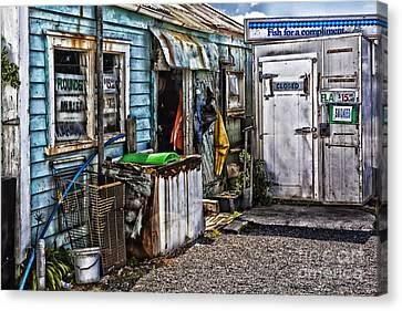 Old Fishing Store At Rawehe Canvas Print by Avalon Fine Art Photography