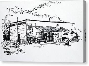 Old Grocery Store - W. Delray Beach Florida Canvas Print by Robert Birkenes