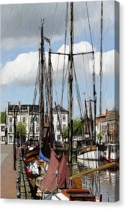 Old Harbor Canvas Print by Steve K