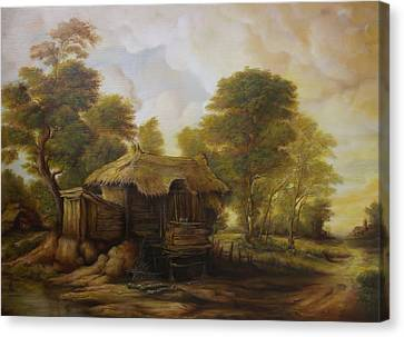 Old Hut  Canvas Print by Dan Scurtu