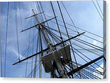 Old Ironsides Canvas Print by Anne Babineau