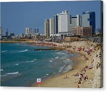 Old Jaffa Beach - Tel Aviv Israel Canvas Print by Joshua Benk