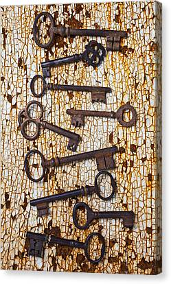Old Keys Canvas Print by Garry Gay