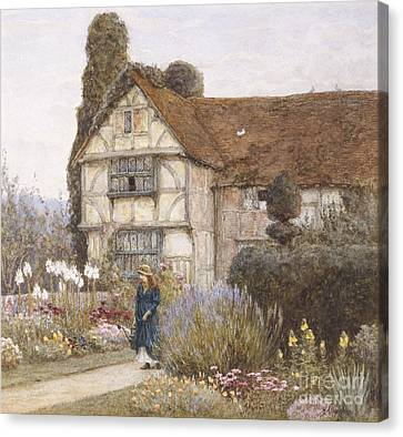 Old Manor House Canvas Print by Helen Allingham
