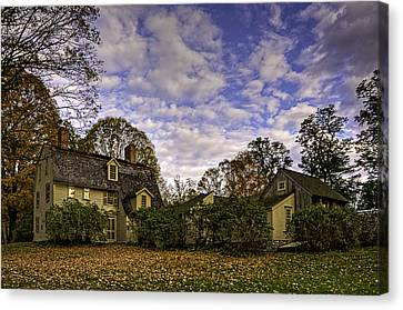 Old Manse In Autumn Glory Canvas Print by Jose Vazquez