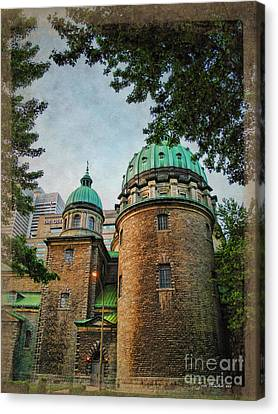 Old Montreal Church Canvas Print by Joan  Minchak