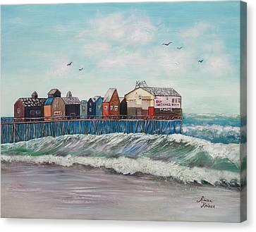Old Orchard Beach Canvas Print by Linda Krider Aliotti
