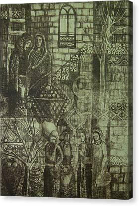 Old Oriental Story Canvas Print by Ousama Lazkani