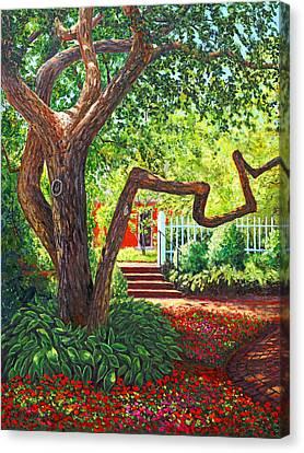 Old Park Tree Canvas Print by Elaine Farmer