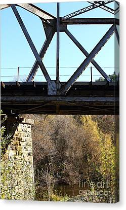 Old Railroad Bridge At Union City Limits Near Historic Niles District In California . 7d10743 Canvas Print by Wingsdomain Art and Photography